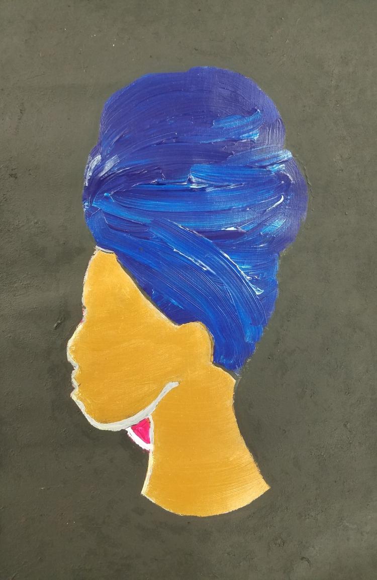 The Blue Turban Wrap